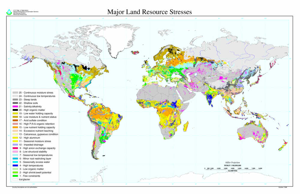 global land quality map