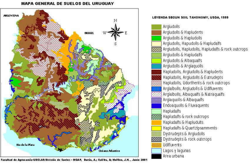 Uruguay Soils As Clified According To The Us System